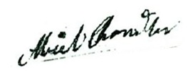Chandler Abiel signature